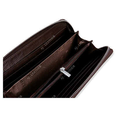 Leather Hold Money 19cm Personalized Zipper Wallet